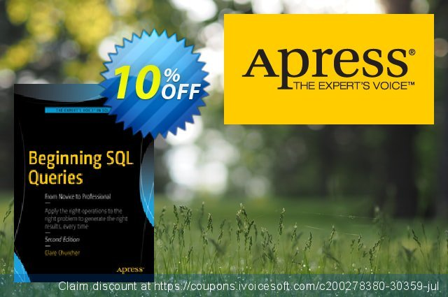 Beginning SQL Queries (Churcher) discount 10% OFF, 2021 Happy New Year discounts