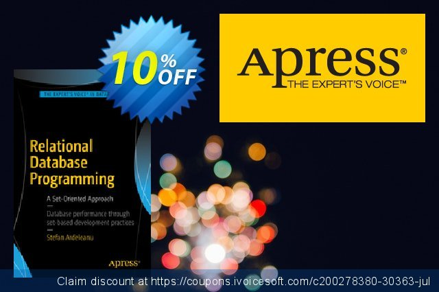 Relational Database Programming (Ardeleanu) discount 10% OFF, 2021 New Year's Day offer