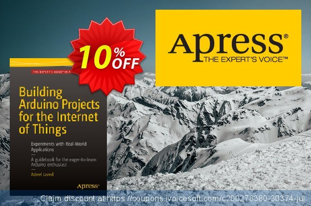 Building Arduino Projects for the Internet of Things (Javed) discount 10% OFF, 2021 New Year's Weekend offering sales