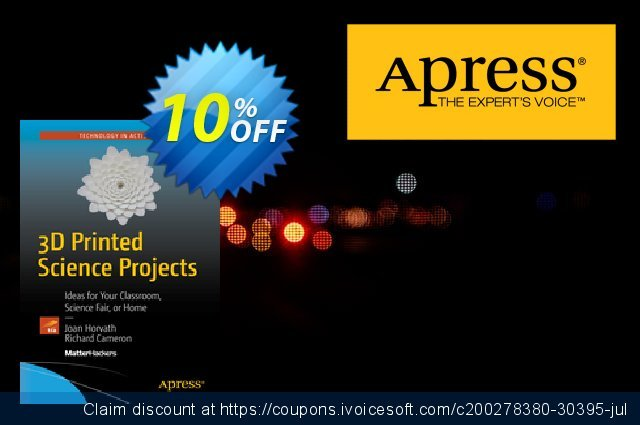 3D Printed Science Projects (Horvath) discount 10% OFF, 2021 New Year's Weekend offering sales