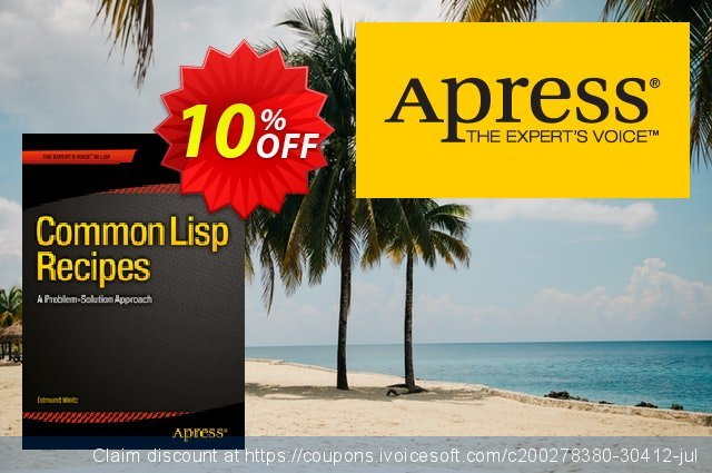 Common Lisp Recipes (Weitz) discount 10% OFF, 2021 New Year's Day offering sales