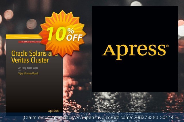 Oracle Solaris and Veritas Cluster : An Easy-build Guide (Upreti) discount 10% OFF, 2021 January offering sales