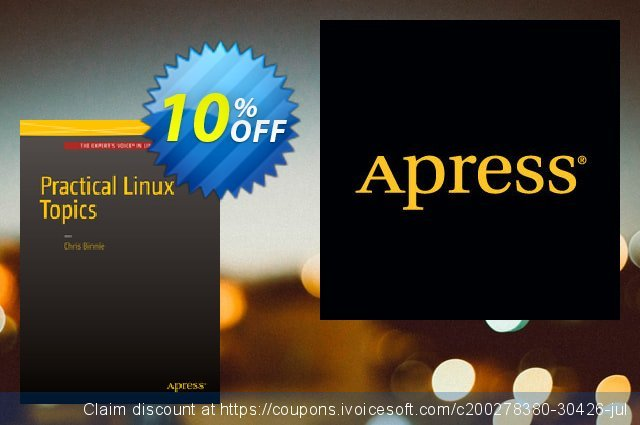 Practical Linux Topics (Binnie) discount 10% OFF, 2020 New Year's Day sales