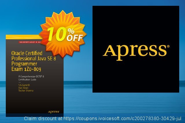 Oracle Certified Professional Java SE 8 Programmer Exam 1Z0-809: A Comprehensive OCPJP 8 Certification Guide (Ganesh) discount 10% OFF, 2021 Happy New Year offering sales