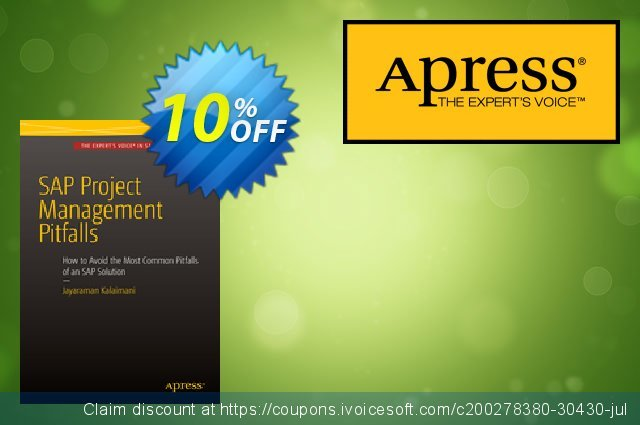 SAP Project Management Pitfalls (Kalaimani) discount 10% OFF, 2021 New Year's Weekend offering sales