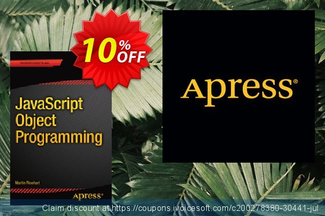 JavaScript Object Programming (Rinehart) discount 10% OFF, 2021 Happy New Year offering discount