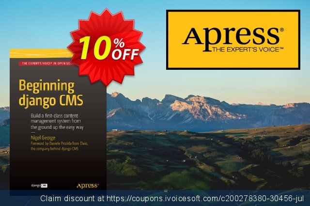 Beginning Django CMS (George) discount 10% OFF, 2020 Thanksgiving Day offering sales