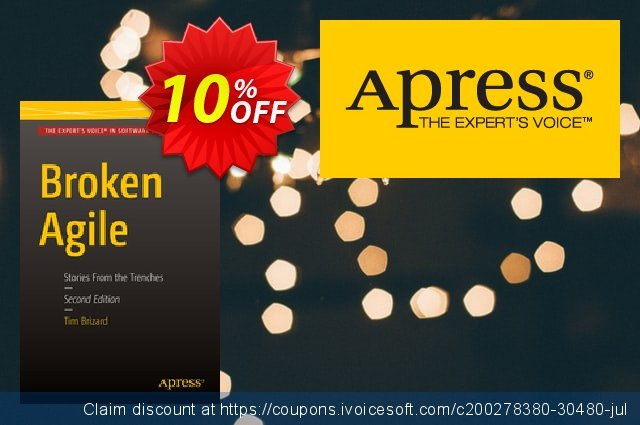 Broken Agile (Brizard) discount 10% OFF, 2021 Spring offering sales
