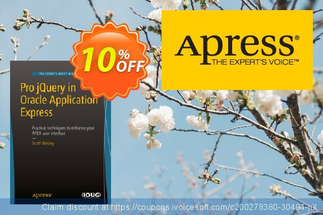 Pro jQuery in Oracle Application Express (Wesley)  특별한   촉진  스크린 샷