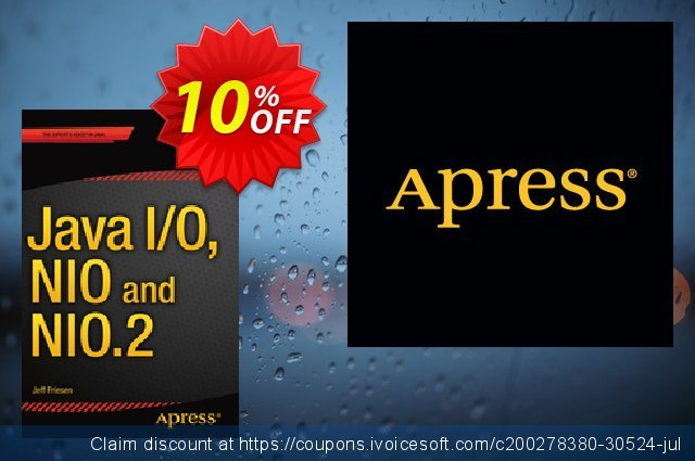 Java I/O, NIO and NIO.2 (Friesen) discount 10% OFF, 2020 Student deals promotions