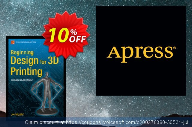 Beginning Design for 3D Printing (Micallef) discount 10% OFF, 2021 New Year's Day promotions