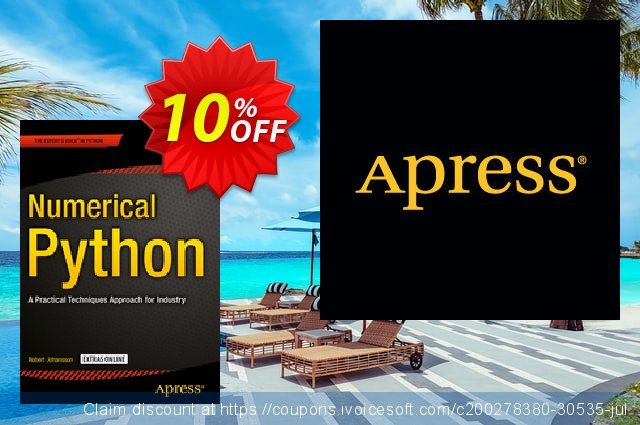 Numerical Python (Johansson) discount 10% OFF, 2021 New Year's Weekend discount