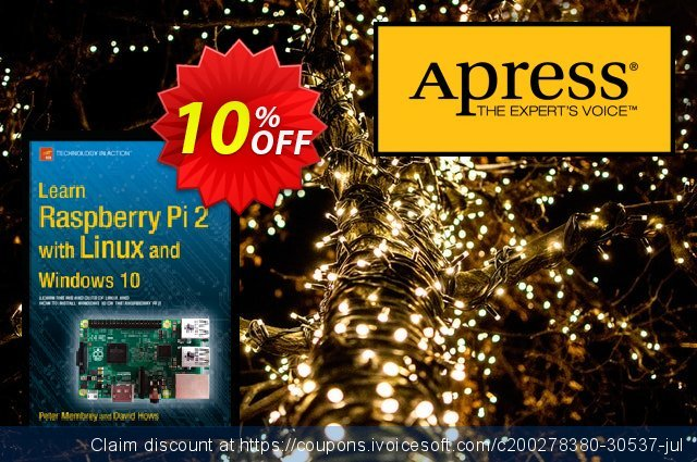 Learn Raspberry Pi 2 with Linux and Windows 10 (Membrey) discount 10% OFF, 2021 New Year offering sales