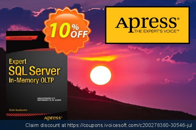 Expert SQL Server in-Memory OLTP (Korotkevitch) discount 10% OFF, 2021 Happy New Year offering sales