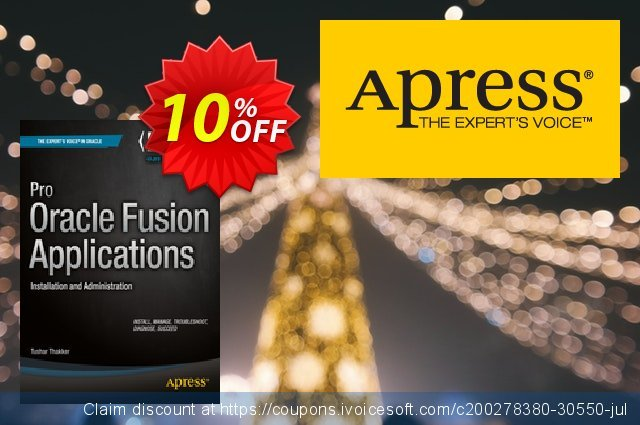 Pro Oracle Fusion Applications (Thakker) discount 10% OFF, 2021 Spring promotions