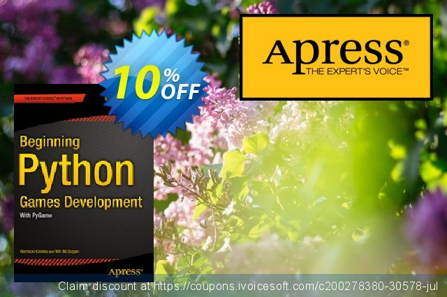 Beginning Python Games Development, Second Edition (McGugan) discount 10% OFF, 2021 Spring promo