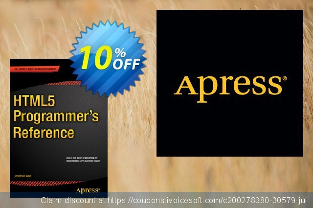 HTML5 Programmer's Reference (Reid) discount 10% OFF, 2021 New Year offering sales