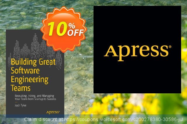 Building Great Software Engineering Teams (Tyler) discount 10% OFF, 2021 New Year offering sales
