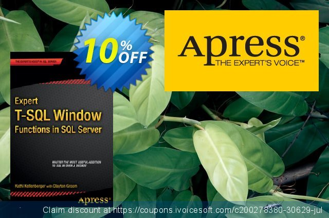 Expert T-SQL Window Functions in SQL Server (Kellenberger) 令人印象深刻的 产品销售 软件截图