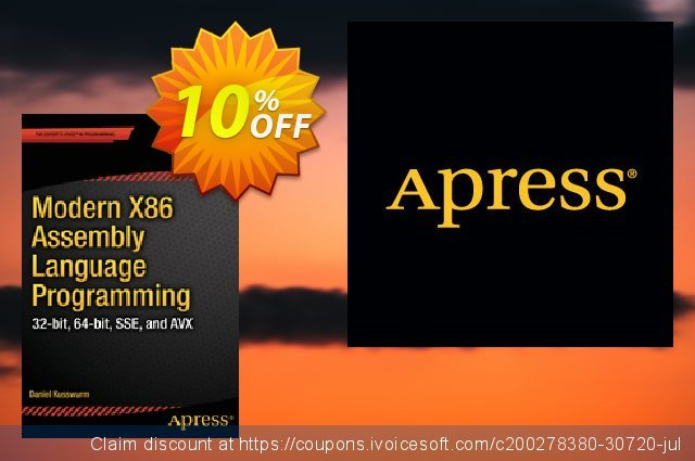 Modern X86 Assembly Language Programming (Kusswurm) discount 10% OFF, 2021 All Hallows' Eve promo sales. Modern X86 Assembly Language Programming (Kusswurm) Deal