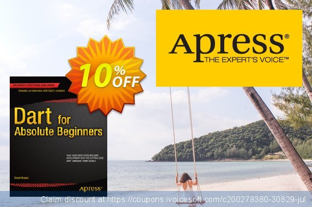 Dart for Absolute Beginners (Kopec) discount 10% OFF, 2021 New Year's Weekend offering sales