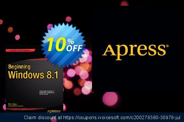 Beginning Windows 8.1 (Halsey) discount 10% OFF, 2021 New Year offering sales