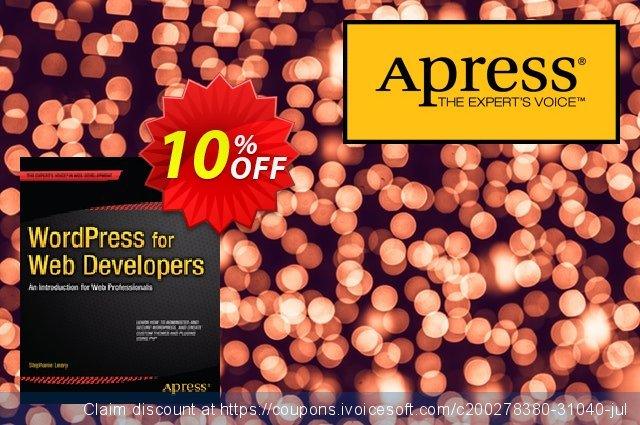 WordPress for Web Developers (Leary) 惊人的 促销 软件截图
