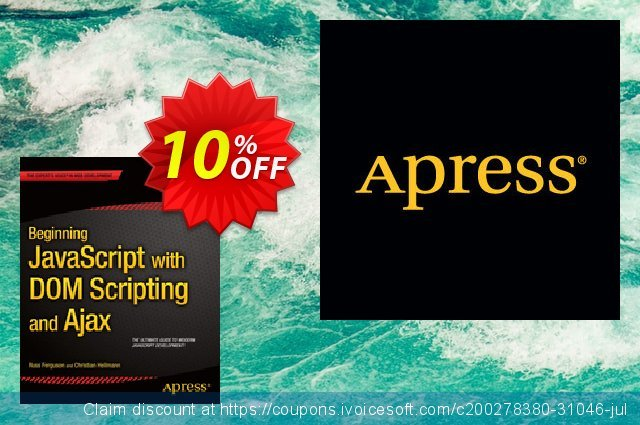 Beginning JavaScript with DOM Scripting and Ajax (Ferguson) discount 10% OFF, 2020 Thanksgiving offering sales