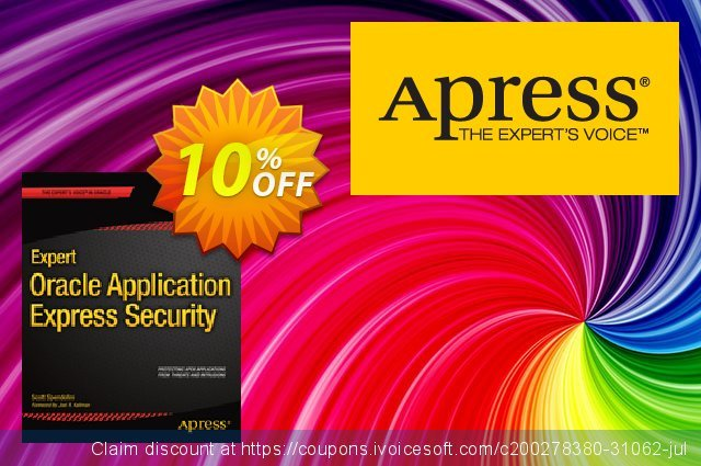 Expert Oracle Application Express Security (Spendolini) 可怕的 优惠券 软件截图