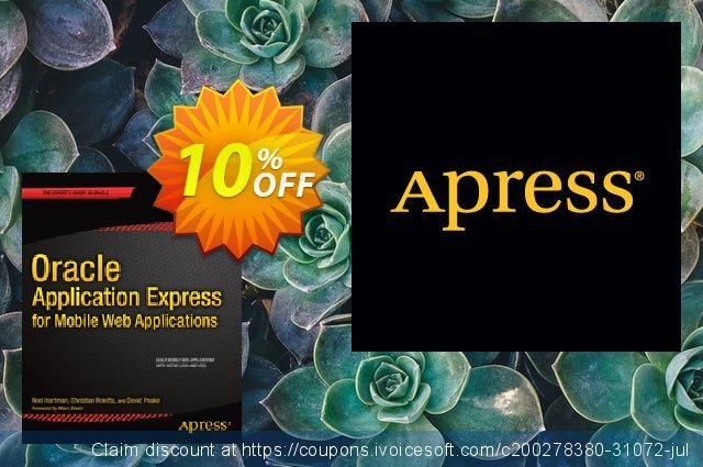 Oracle Application Express for Mobile Web Applications (Hartman) discount 10% OFF, 2020 Xmas sales