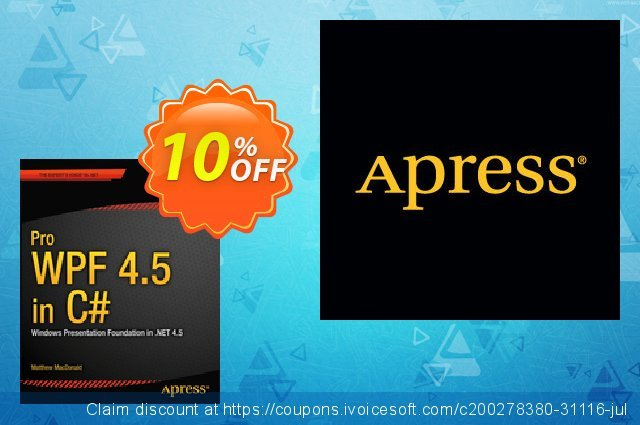 Pro WPF 4.5 in C# (MacDonald) discount 10% OFF, 2021 New Year's Weekend offering sales