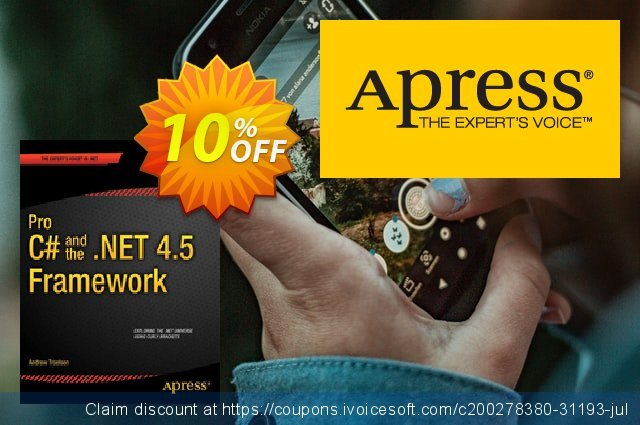 Pro C# 5.0 and the .NET 4.5 Framework (Troelsen) discount 10% OFF, 2021 New Year's Weekend offering sales