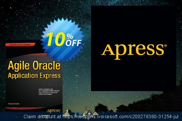 Agile Oracle Application Express (Cimolini)  최고의   프로모션  스크린 샷