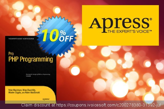Pro PHP Programming (Gogala) discount 10% OFF, 2020 Thanksgiving Day offering sales