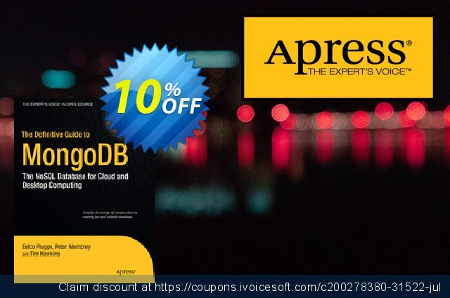 The Definitive Guide to MongoDB (Membrey) discount 10% OFF, 2020 Xmas offering sales