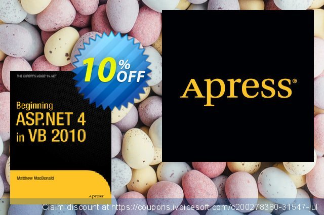 Beginning ASP.NET 4 in VB 2010 (MacDonald) discount 10% OFF, 2021 Happy New Year promo