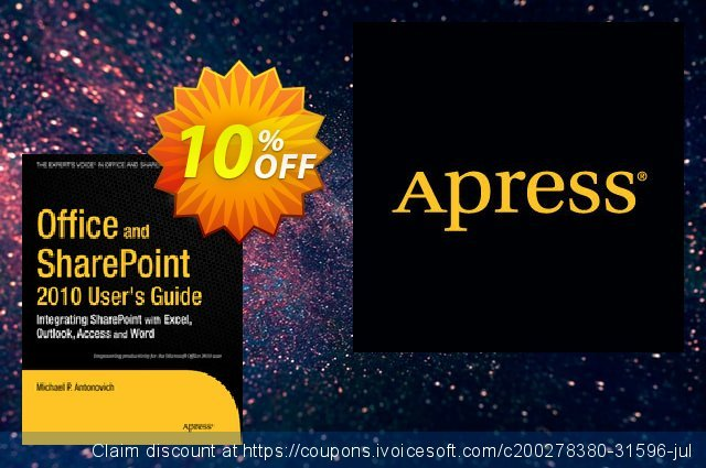 Office and SharePoint 2010 User's Guide (Antonovich) discount 10% OFF, 2020 New Year's Day offering sales