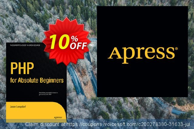 PHP for Absolute Beginners (Lengstorf) discount 10% OFF, 2020 Christmas Day offering sales