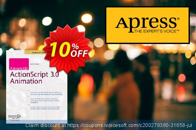 AdvancED ActionScript 3.0 Animation (Peters) discount 10% OFF, 2021 New Year's Day offering sales