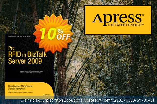 Pro RFID in BizTalk Server 2009 (Simms) discount 10% OFF, 2021 Happy New Year promotions