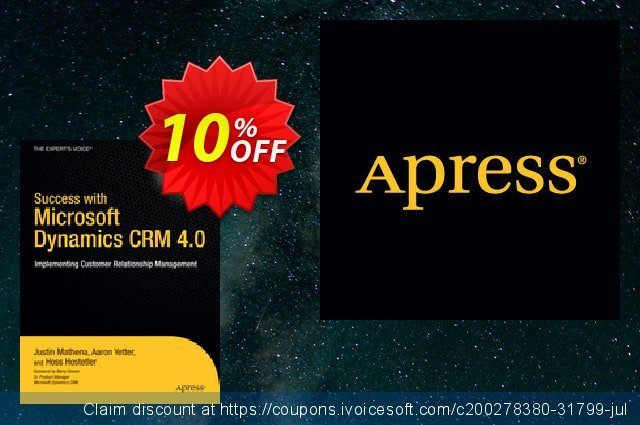 Success with Microsoft Dynamics CRM 4.0 (Yetter) discount 10% OFF, 2021 Happy New Year offering sales
