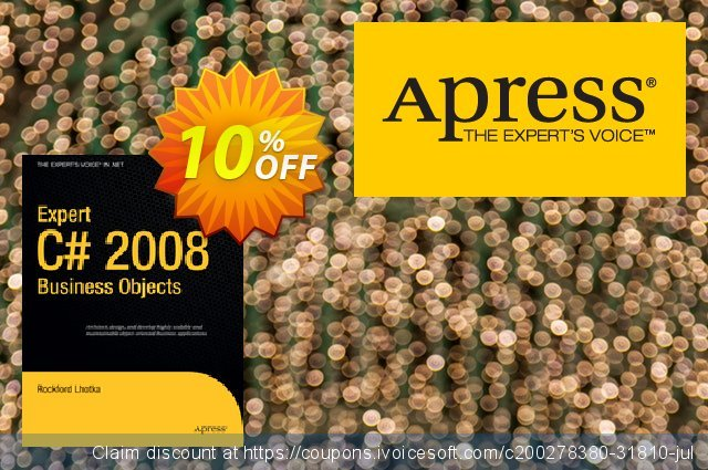 Expert C# 2008 Business Objects (Lhotka) discount 10% OFF, 2021 Spring offering sales