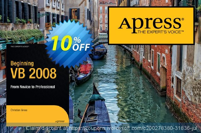 Beginning VB 2008 (Gross) discount 10% OFF, 2021 Happy New Year offering sales