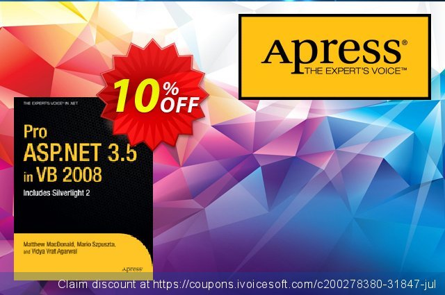 Pro ASP.NET 3.5 in VB 2008 (Szpuszta) discount 10% OFF, 2021 New Year's Day offering discount