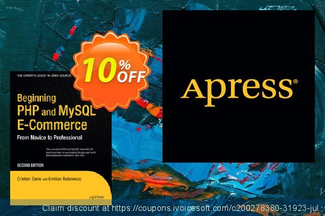Beginning PHP and MySQL E-Commerce (Darie) discount 10% OFF, 2021 New Year offering discount