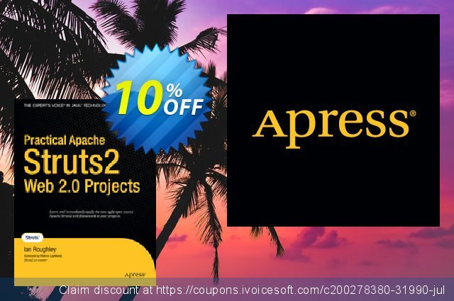 Practical Apache Struts 2 Web 2.0 Projects (Roughley) discount 10% OFF, 2021 Happy New Year offering sales