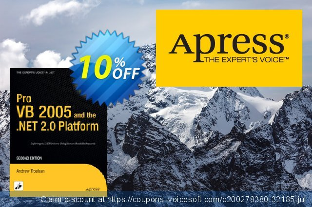Pro VB 2005 and the .NET 2.0 Platform (Troelsen) discount 10% OFF, 2021 January sales