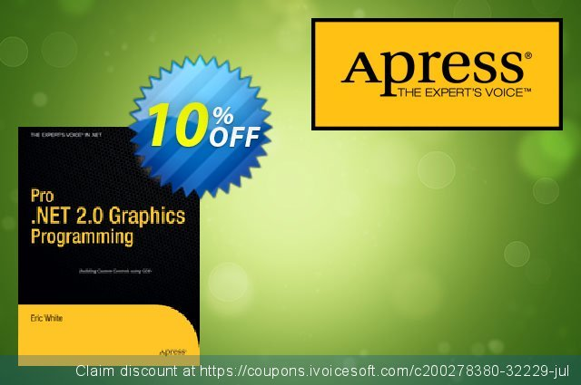 Pro .NET 2.0 Graphics Programming (White) discount 10% OFF, 2020 Thanksgiving Day offering sales