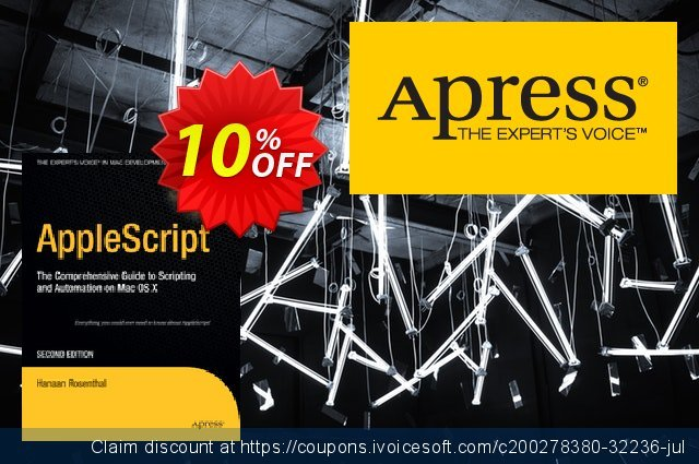 AppleScript (Rosenthal) discount 10% OFF, 2021 New Year's Weekend offering sales