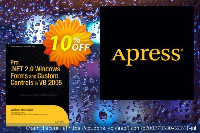 Pro .NET 2.0 Windows Forms and Custom Controls in VB 2005 (MacDonald) discount 10% OFF, 2021 January promotions
